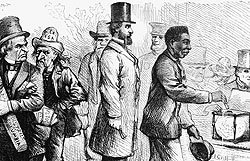 Freed slaves voting in the 1868 election