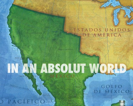 Absolut World Mexico Map