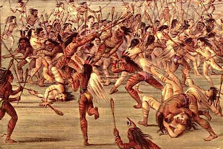 A violent ballgame similar to lacrosse was played by the traditional Cherokee.