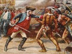 The Cherokee and British fought against each other during the French and Indian War.