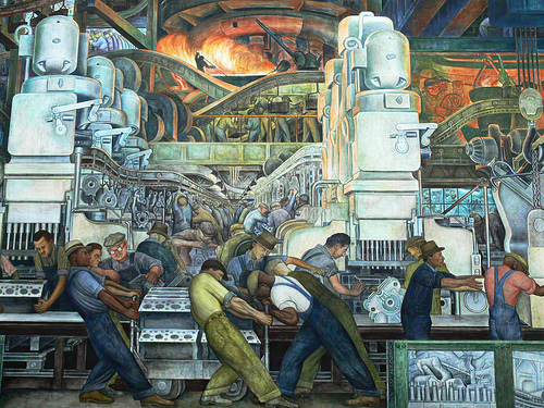 American history usa for Diego rivera detroit mural