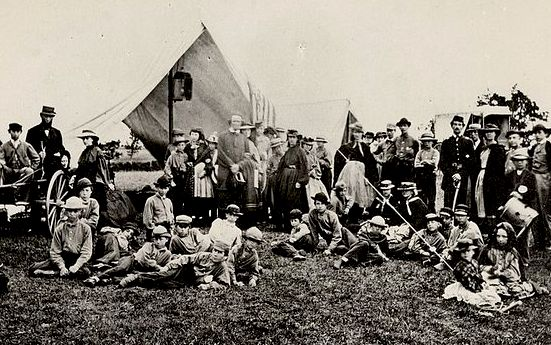 The Gunnery Camp in 1861