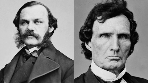 Henry Jarvis Raymond and Thaddeus Stevens were on different wings of the Republican Party.
