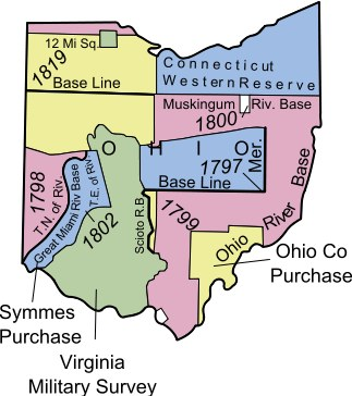 Ohio Land Districts illustration.