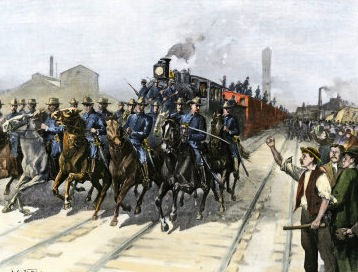 Pullman Strike suppressed by federal troops, 1894
