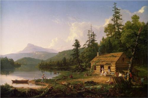 Thomas Cole - Home In The Woods (1847)