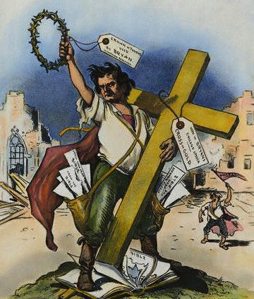 "William Jennings Bryan ""Cross of Gold"" cartoon"