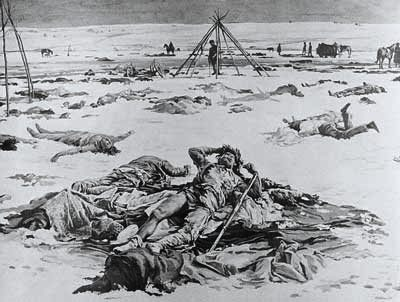 The Wounded Knee Massacre in 1890 ended the Indian Wars