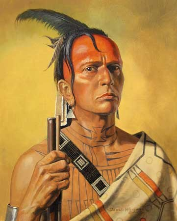 A traditional Cherokee warrior.