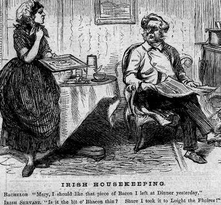 Irish Servant Humor, 1861