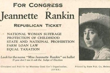 Detail from a Rankin campaign card, in 1916
