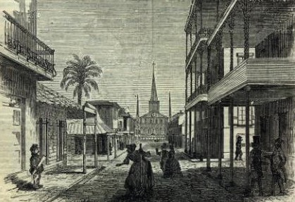 New Orleans French Quarter, early 1800s