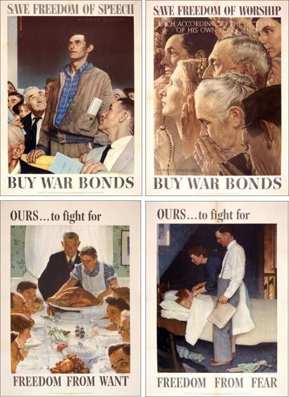 Norman Rockwell's Four Freedoms paintings