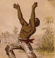 Drawing of a freed slave.