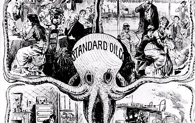 The Standard Oil Trust was formed in by John D. Rockefeller. He built up the company through to become the largest oil refinery firm in the world.