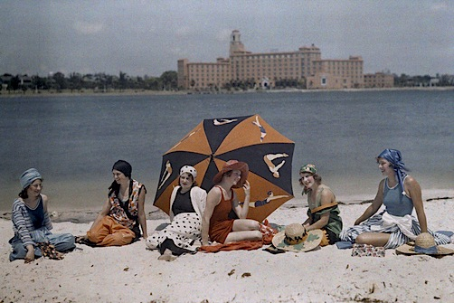 Women on the beach, St. Petersburg, 1920s