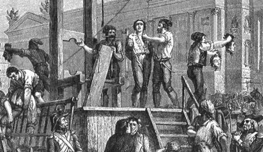 An execution in France during the Reign of Terror, 1790s.