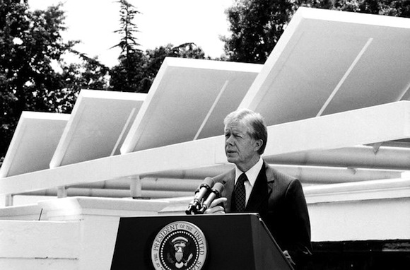 Solar panels on the White House during the Carter Administration.