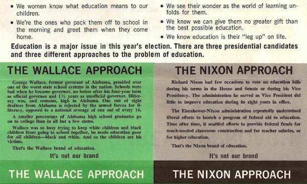 Anti-Wallace and Nixon pamphlet, 1968