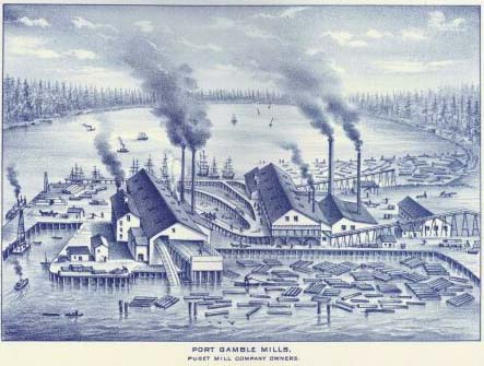 Early Puget Sound Mill, 1889