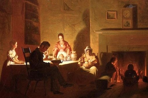 George Caleb Bingham, Family Life on the Frontier (Detail)